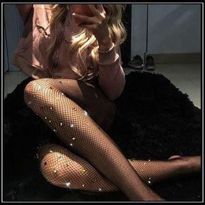 Miss Babydoll Intimates & Sleepwear - ❤️NEW Sexy Bling Fishnet Stockings #D17